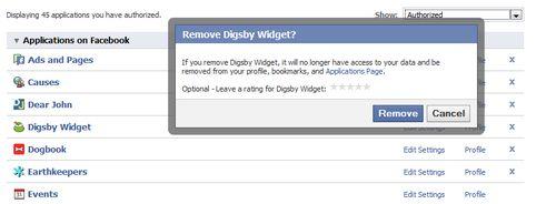 Facebook App Delete
