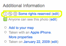 Flickr rights