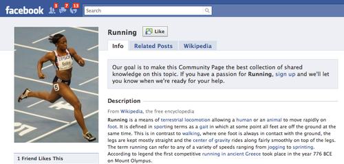 Facebook Running