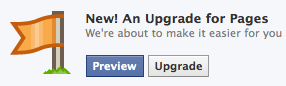 Facebook upgrade