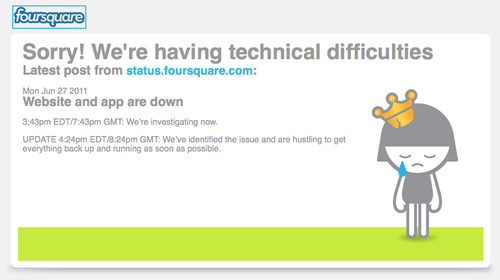 Foursquare error